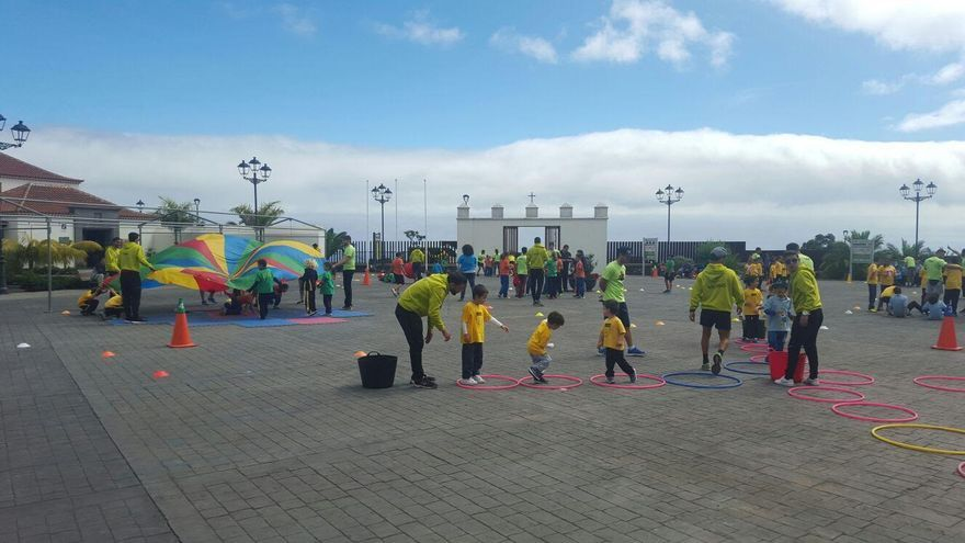 La actividad se ha llevado a cabo en el Parque de Los Álamos de Breña Alta.