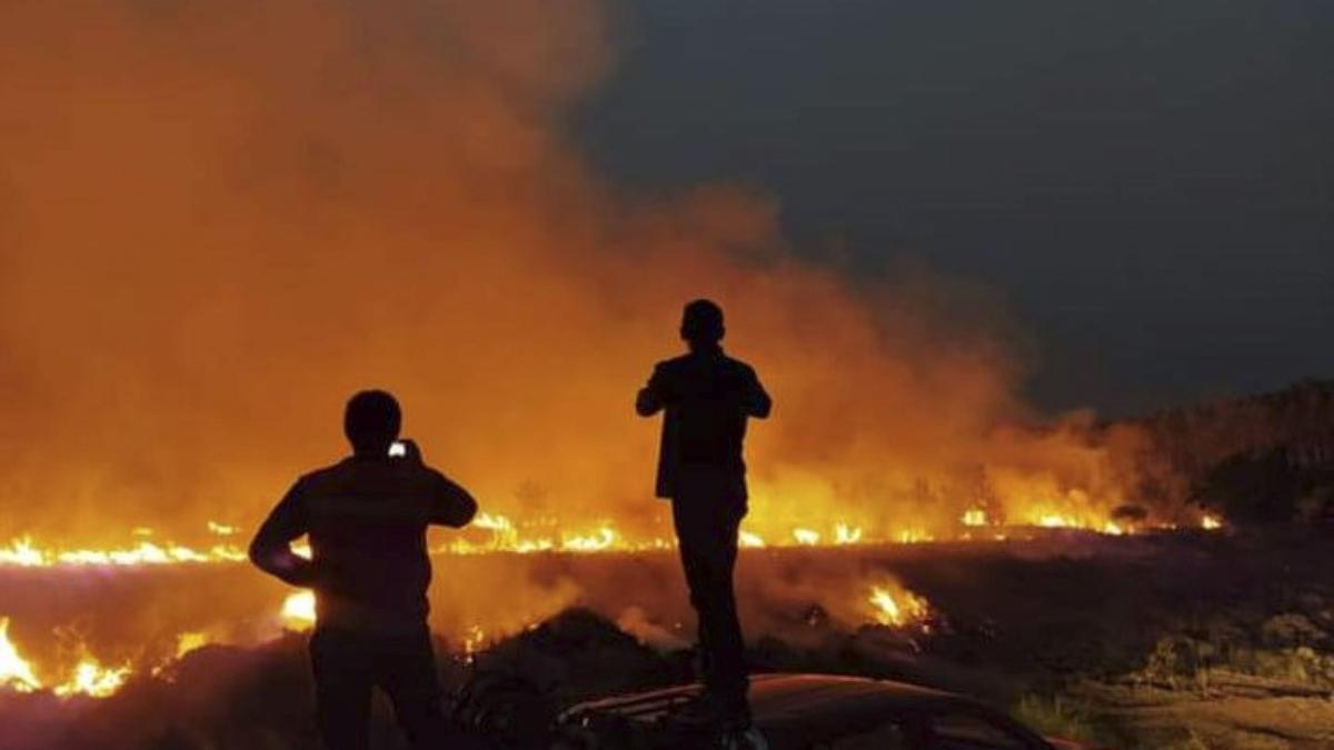 Incendios rurales en Gobernador Virasoro, provincia de Corrientes, en noviembre pasado.