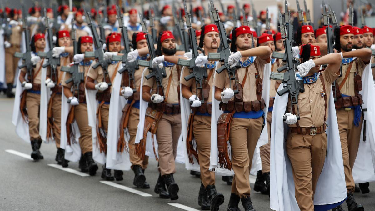Un momento del tradicional desfile del 12 de octubre, en una fotografía de archivo. EFE/ J.J. Guillén