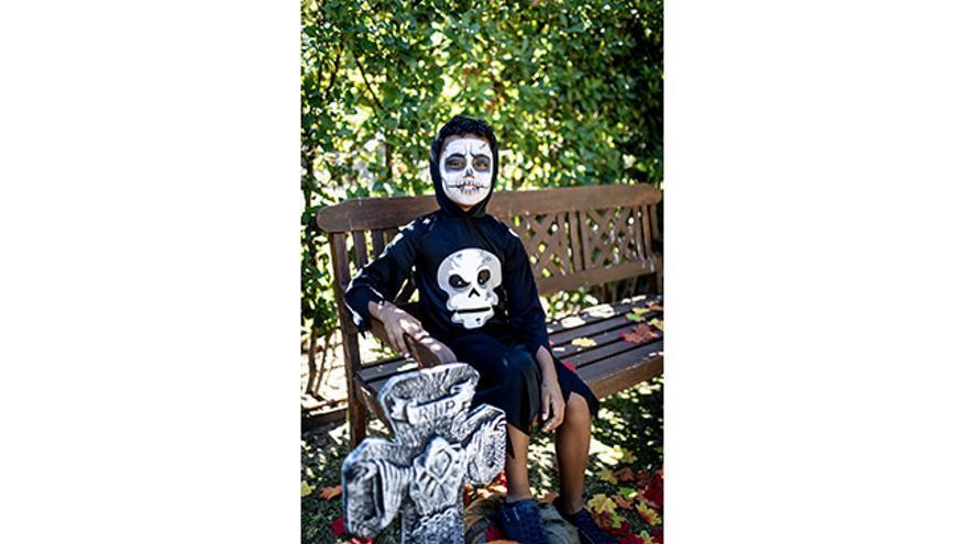 Disfraz esqueleto tragón.