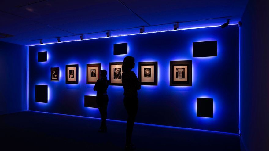 Zona de 'rayogramas' en el espacio Fundación Canal (Madrid)