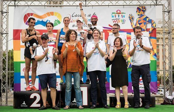 Uno de los podios de la I Carrera de la Diversidad   Fotografía: Ayuntamiento de Madrid