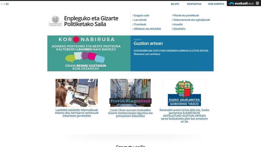 Gobierno Vasco abre un portal de consulta sobre las ayudas sociales habilitadas durante la crisis
