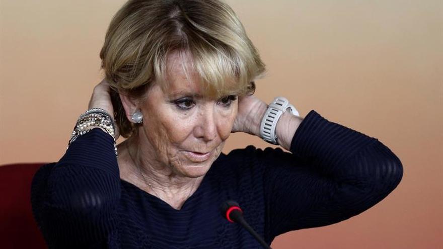 Esperanza Aguirre aclara que irá a actos de Rajoy y no intervendrá por no tener cargos