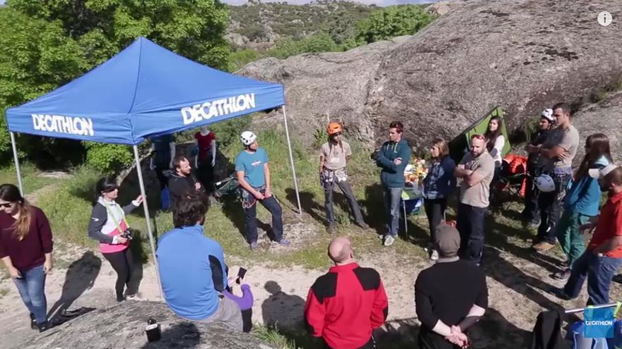 presentación de los nuevos productos de nuestra marca de escalada Simond, Decathlon