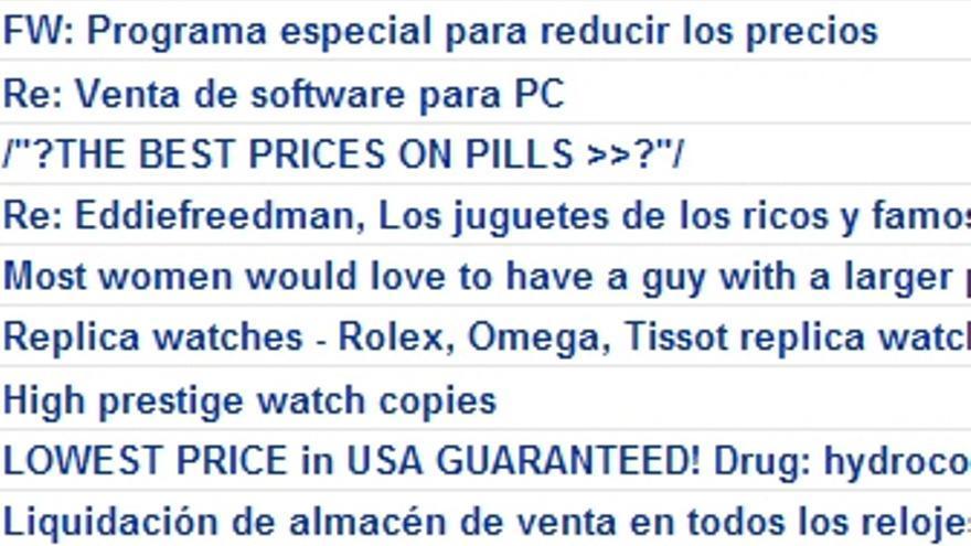 El spam, esa plaga.