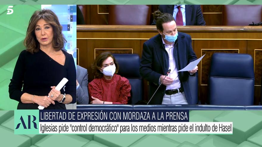Ana Rosa Quintana responde a Pablo Iglesias