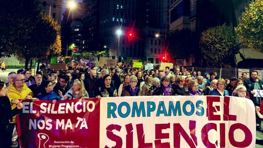 Protesta por las calles de Badajoz