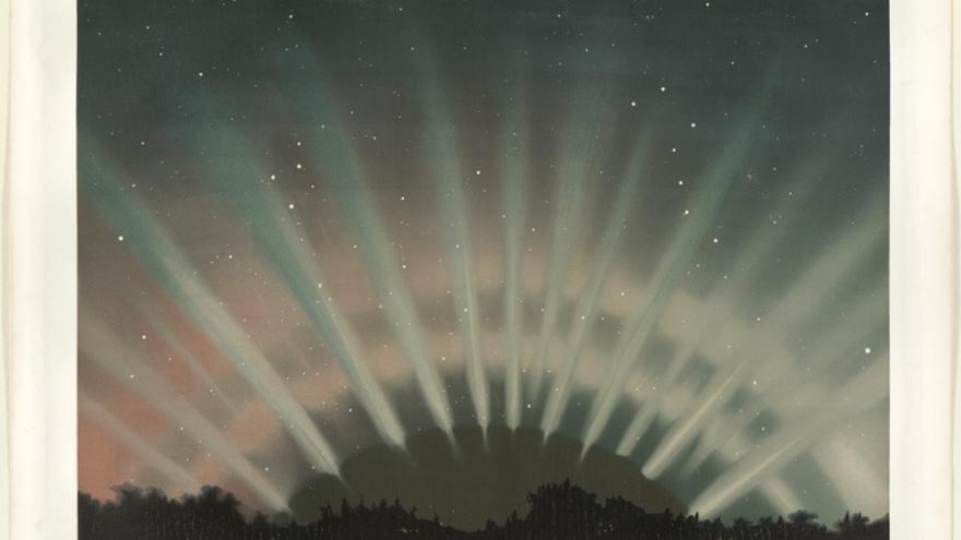 Auroras boreales observadas el 1 de marzo de 1872
