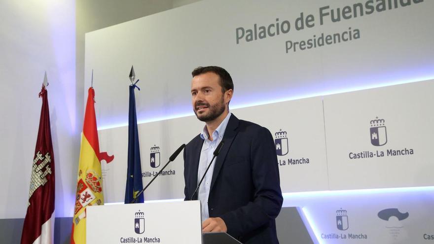 El consejero de Desarrollo Sostenible, José Luis Escudero, en la rueda de prensa posterior al Consejo de Gobierno