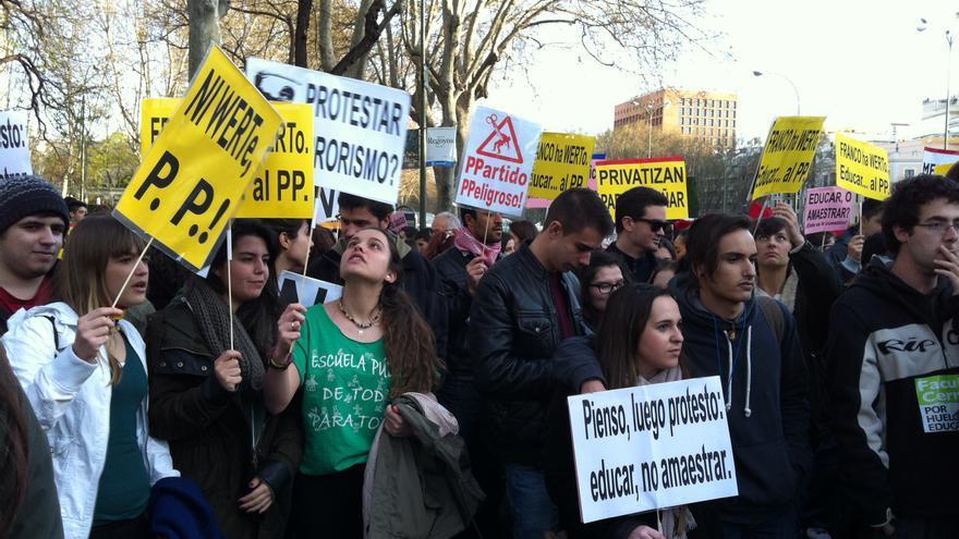 Algunos de los manifestantes en la protesta del 27M. \ S.P