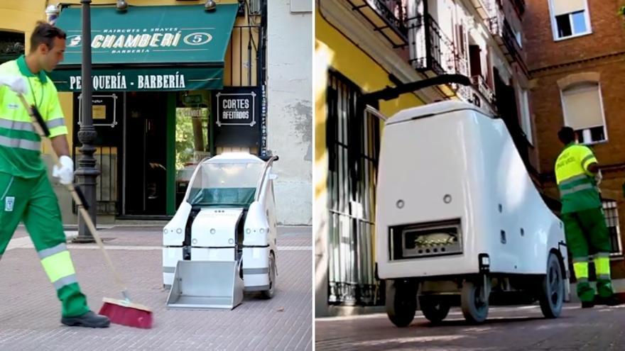 El robot A1A3, en pleno funcionamiento   FERROVIAL