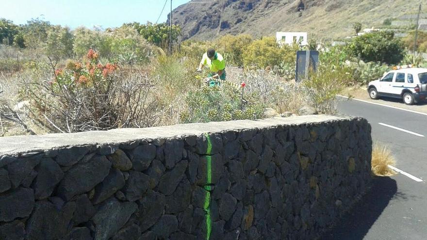 Las  mediciones en la zona para redactar el proyecto de la obra del tercer carril en la Subida a El Time ya han comenzado.