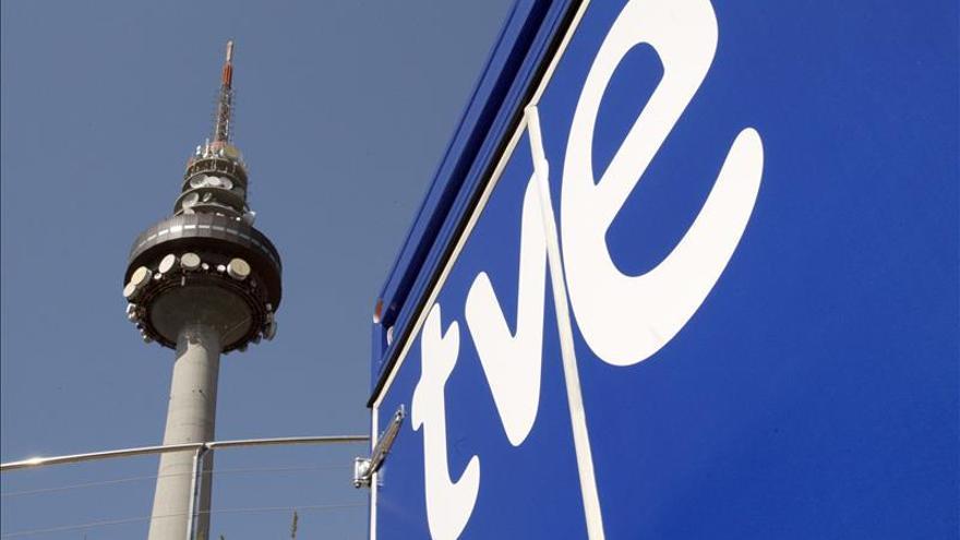 Vista del Pirulí, centro de comunicaciones de RTVE.