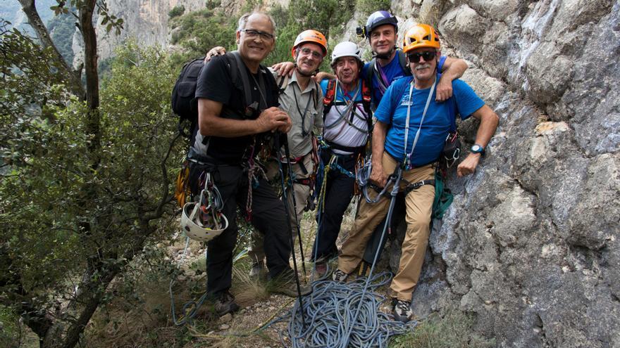 Vidal, Anglada, Pérez Gil, Rafa Vadillo y Antón Fontdevila en la Feixa.