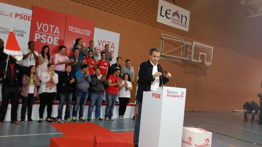 """Zapatero acusa al PP de no tener programa y solo utilizar """"la herencia"""""""