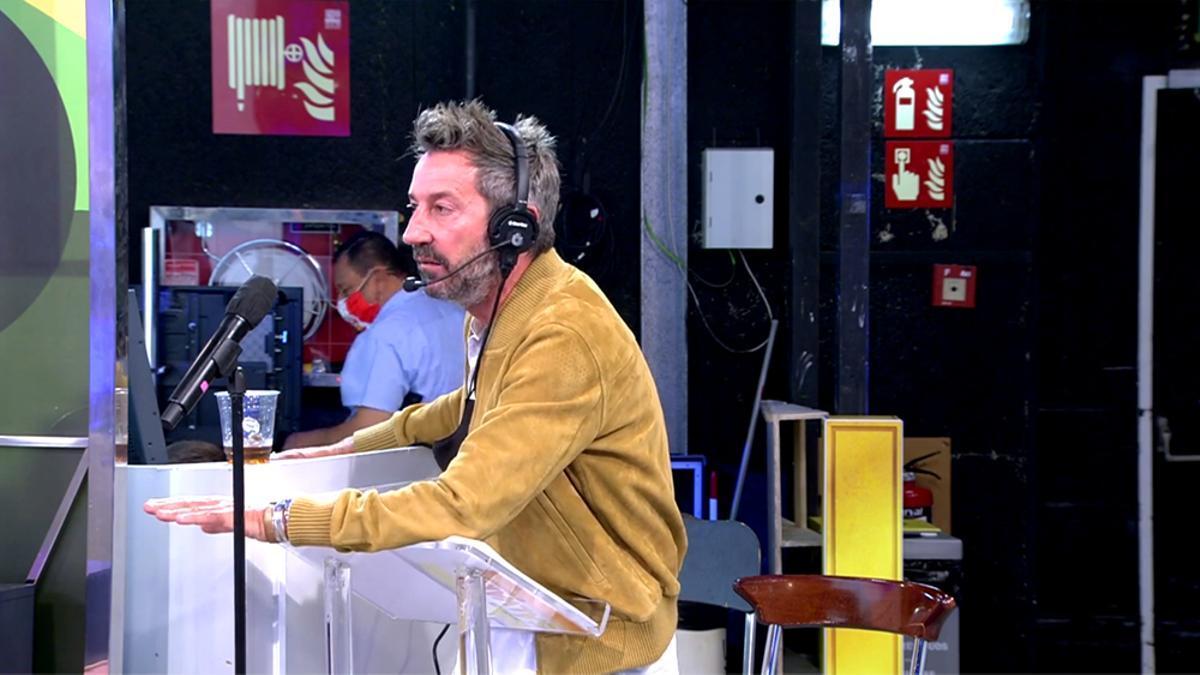 David Valldeperas, en el plató de 'Sálvame'