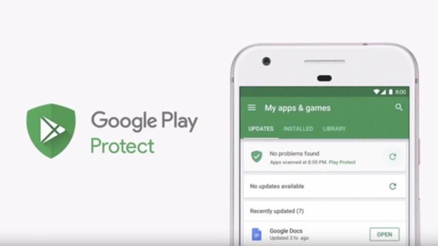 Google Play Protect, un sistema para comprobar la fiabilidad de 'apps' descargadas en Android