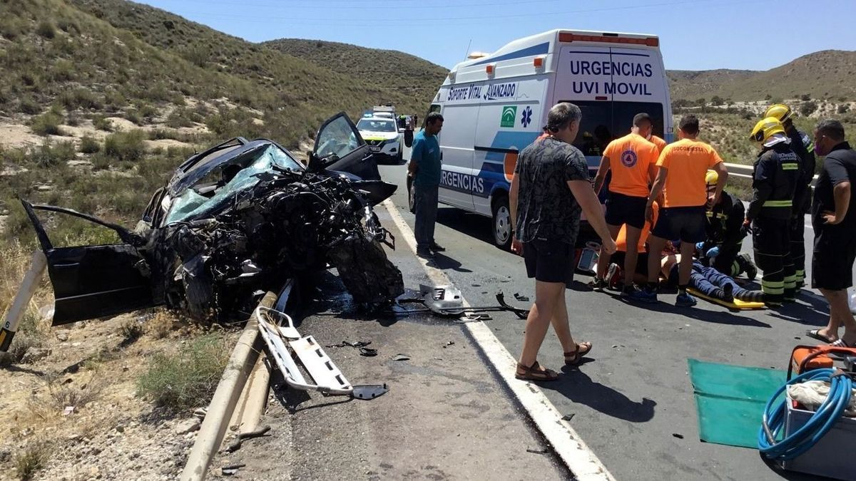 Accidente de tráfico en Carboneras (Almería), el pasado junio.