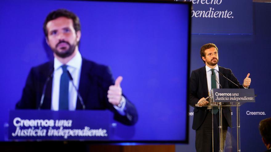 """Casado asegura que el PP nunca estará en un acto """"en el que participe Bildu"""""""