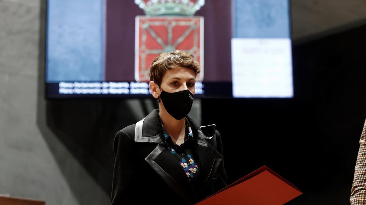 La presidenta del Gobierno de Navarra, María Chivite. EFE/ Jesús Diges/Archivo