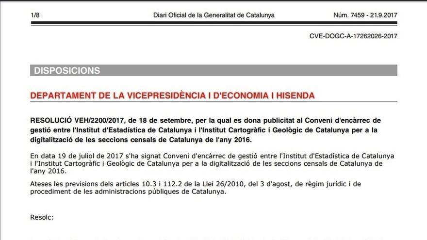 El Govern publica un encargo para digitalizar y actualizar el censo de Catalunya
