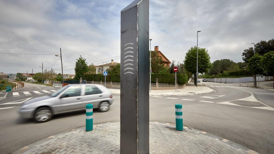 Aparece un nuevo monolito, esta vez en Celrà (Girona)