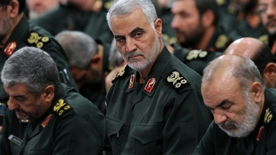 Tehran, Iran: Qassem Soleimani (center) during a meeting with Iranian military. Soleimani, the leader of Iran's elite Quds Force, a unit in Iran's Revolutionary Guards (IRGC), was killed late January 2, 2020 in a U.S. airstrike that targeted a convoy near the main airport in Baghdad, iraq.