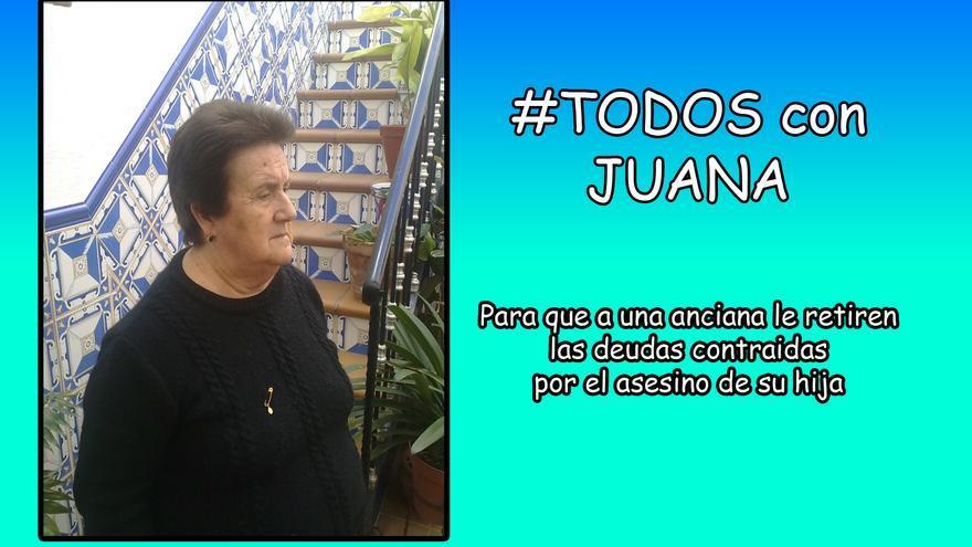 Imagen que la familia de Juana Vacas comparte en redes sociales para apoyar su causa.