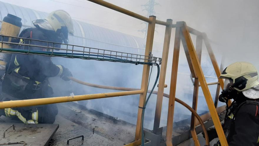 Incendio en una fábrica de Orkoien
