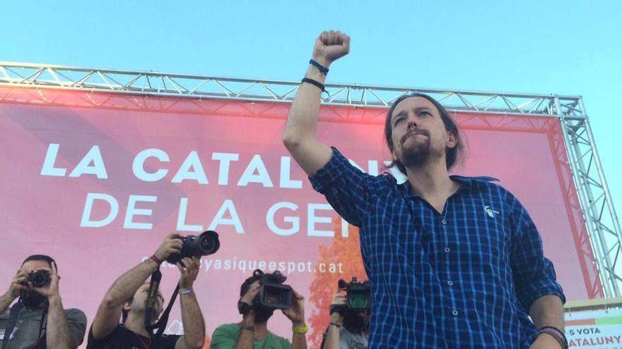 """Pablo Iglesias ve factible que ERC, PSC y la CUP apoyen a Rabell para formar """"un gobierno progresista"""""""