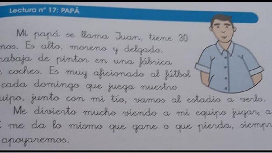 Descripción del padre en el libro 'Mis Lecturas Favoritas 2.2'