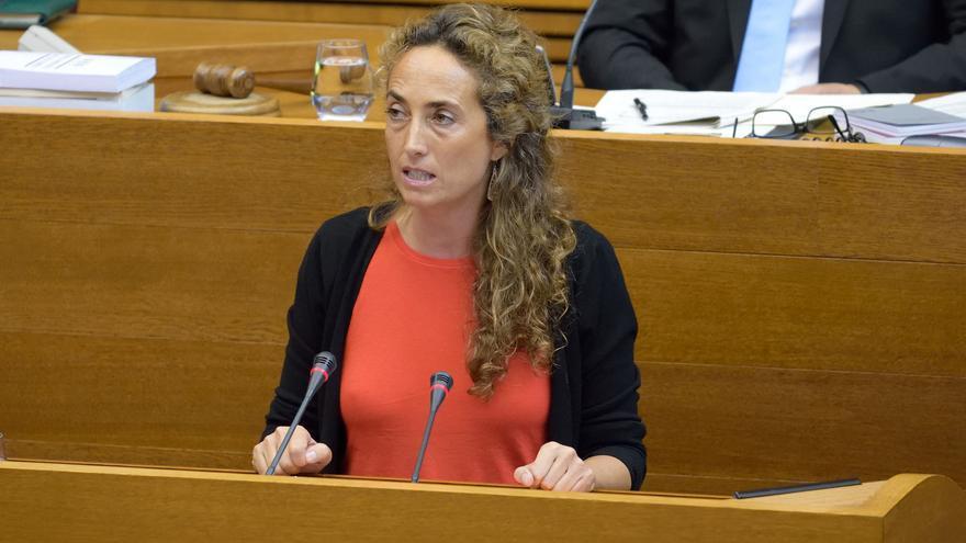 Carolina Punset, durante su intervención en las Corts Valencianes