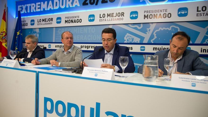 """La Junta Directiva Regional del PP de Extremadura reafirma que Monago va a """"arreglar la vida política con más reformas"""""""