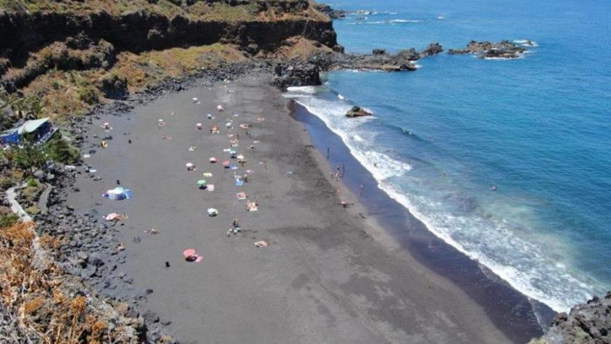Imagen de archivo de la playa del Bollullo, en La Orotava