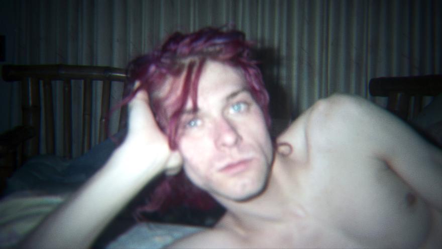 Kurt Cobain en una de las grabaciones caseras de Courtney Love