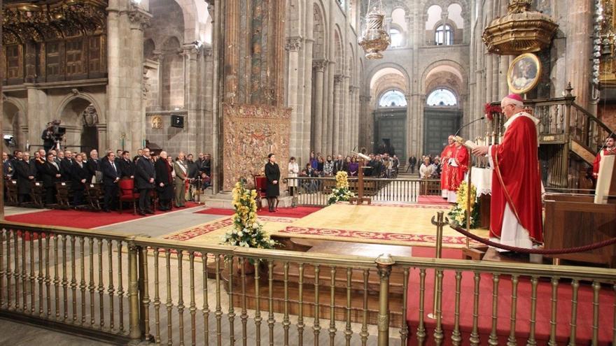 Un momento de la ceremonia en la Catedral de Santiago