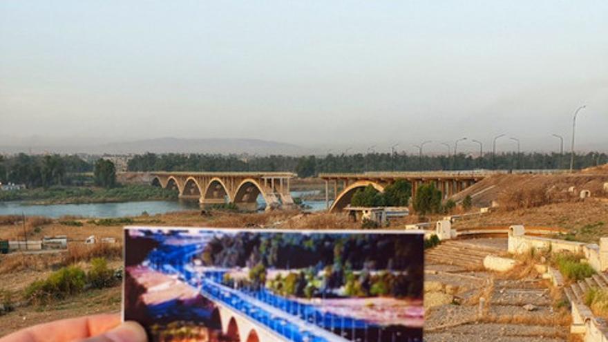 El tercer puente de Mosul fue el lugar por donde intentaron huir muchos mosulíes de la guerra