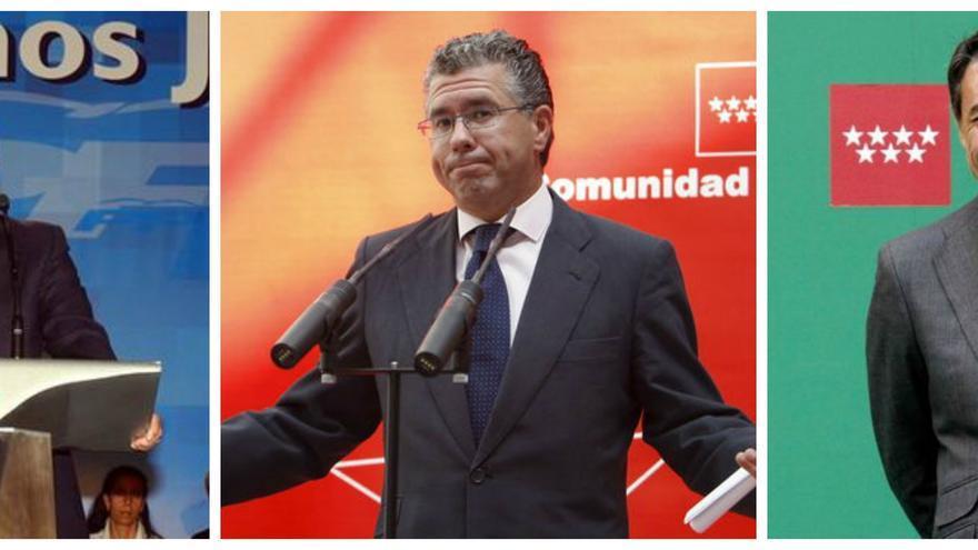Ricardo Romero de Tejada, Francisco Granados e Ignacio González, secretarios generales del PP de Madrid entre 1996 y 2016