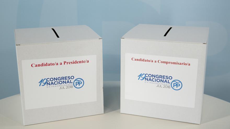 Las urnas en las que los militantes votarán a los candidatos y a los compromisarios. / PP