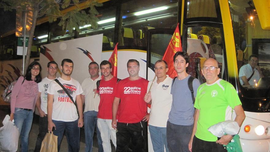 Integrantes de las Marchas de la Dignidad antes de emprender viaje desde Córdoba a Oviedo.