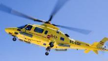Evacuado en helicóptero un cazador accidentado en las Cañadas del Teide