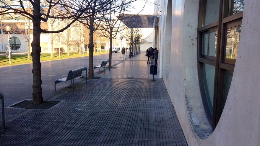 La biblioteca de la Universidad Pública de Navarra.