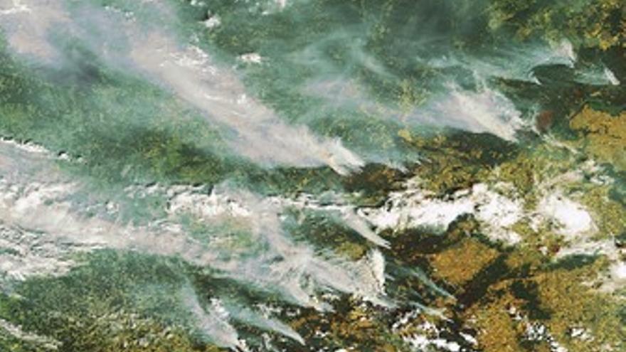 Incendios forestales en Rusia.