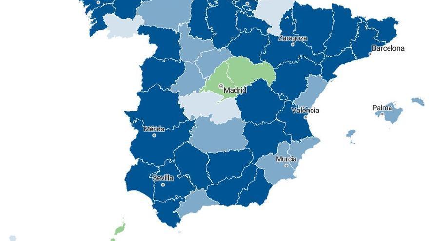Las provincias canarias son las únicas en toda España con una incidencia de COVID menor de 100