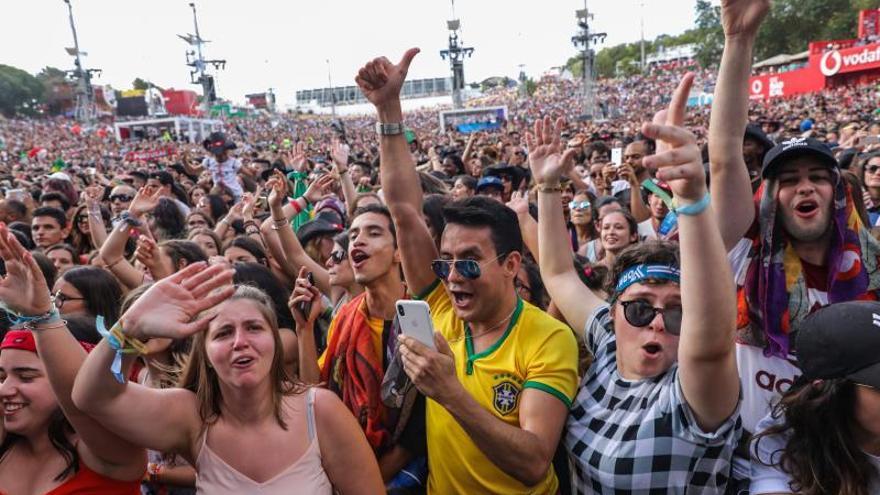Público asistente a un concierto en la pasada edición de Rock in Rio Lisboa, en 2018.