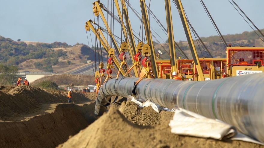 Obras del gasoducto Trans Adriático en el norte de Grecia en noviembre de 2016. Foto: TAP