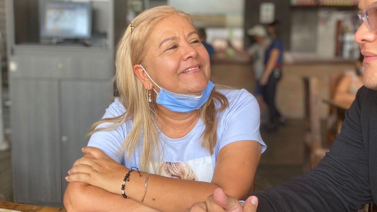 Martha Sepúlveda en una imagen subida a las redes por su hijo