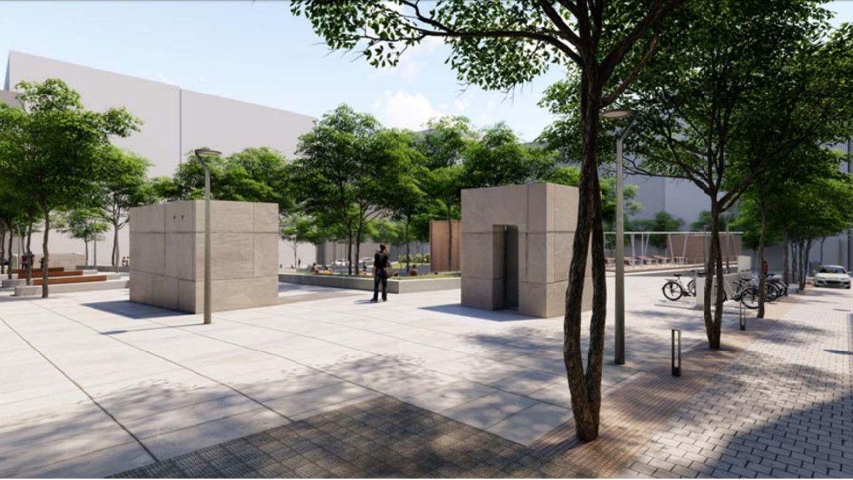 La nueva Plaza de Pedro Zerolo desde la Costanilla de Capuchinos | AYUNTAMIENTO DE MADRID