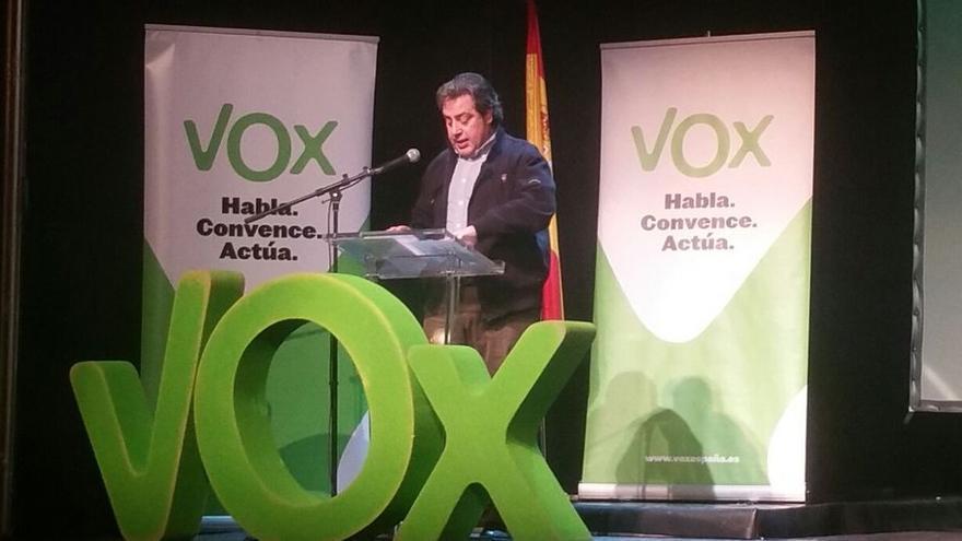 José María Llanos, en un acto de Vox